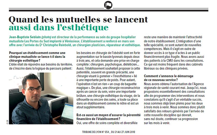 Interview de Jean-Baptiste Seblain, groupe hospitalier Les Portes du Sud
